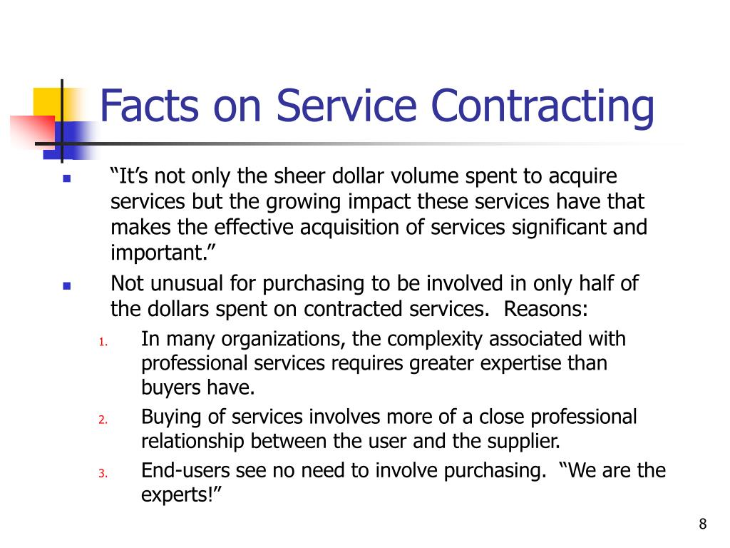 Facts on Service Contracting