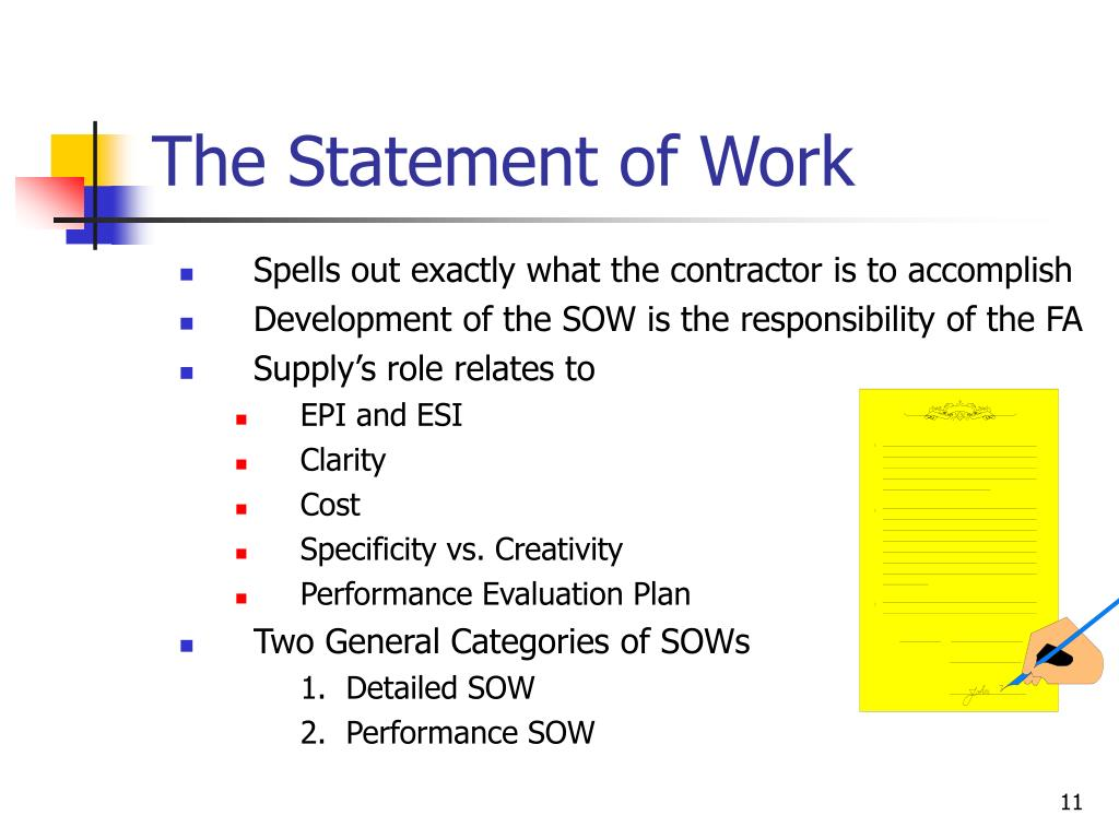 The Statement of Work