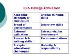 ib college admission