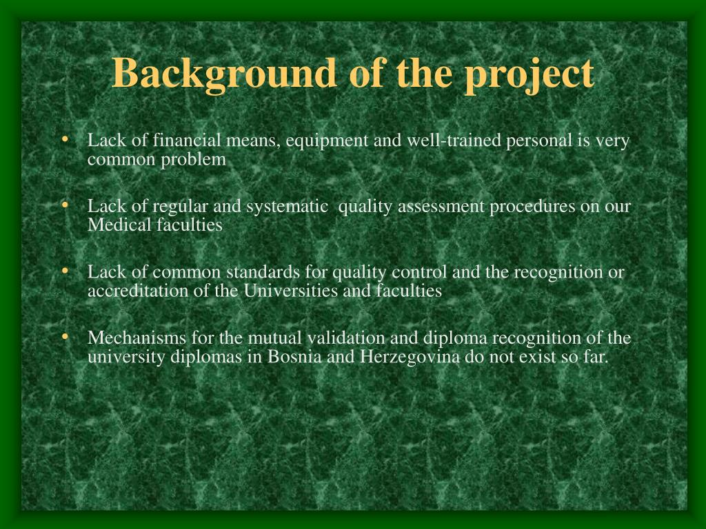 Background of the project