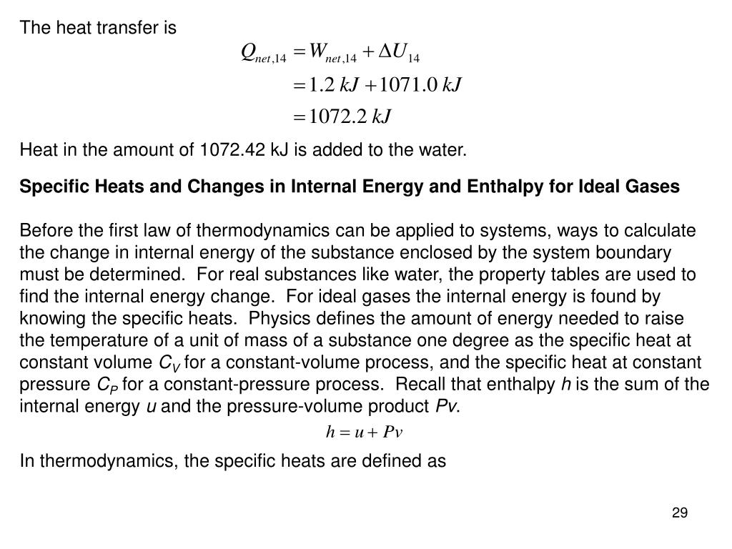 The heat transfer is