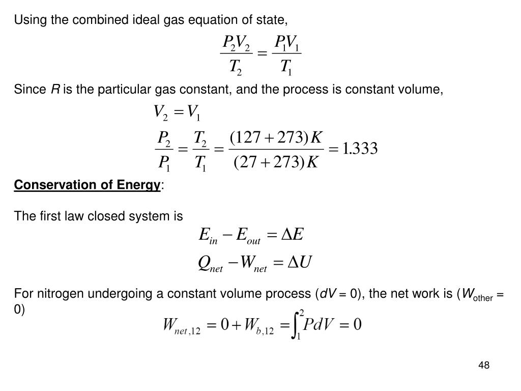 Using the combined ideal gas equation of state,