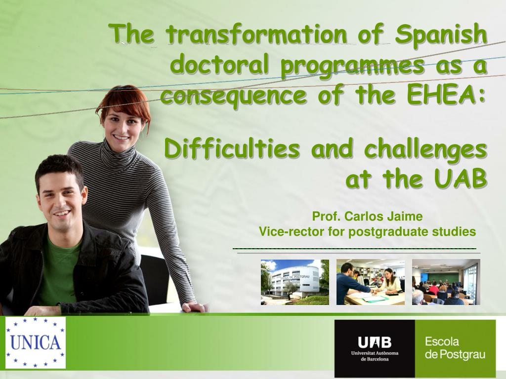 The transformation of Spanish doctoral programmes as a consequence of the EHEA: