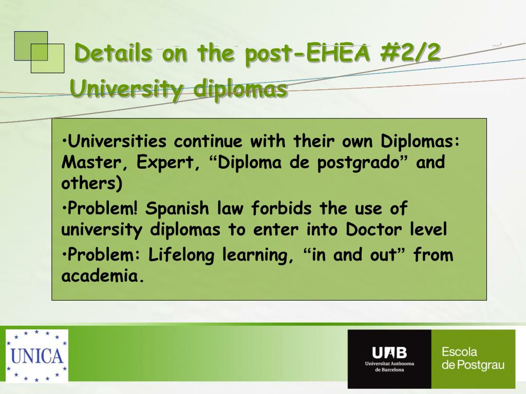 Details on the post-EHEA #2/2