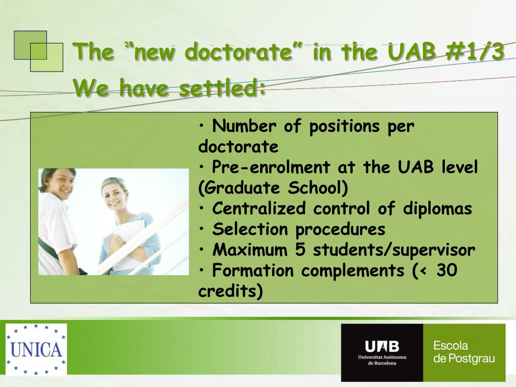 """The """"new doctorate"""" in the UAB #1/3"""