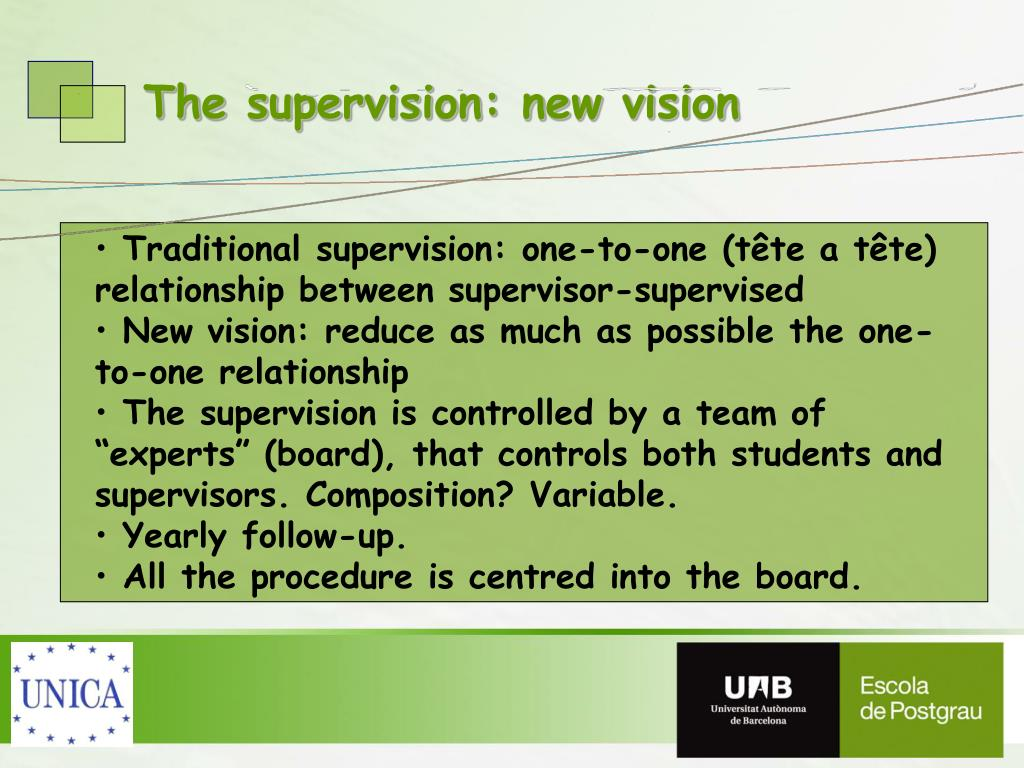 The supervision: new vision