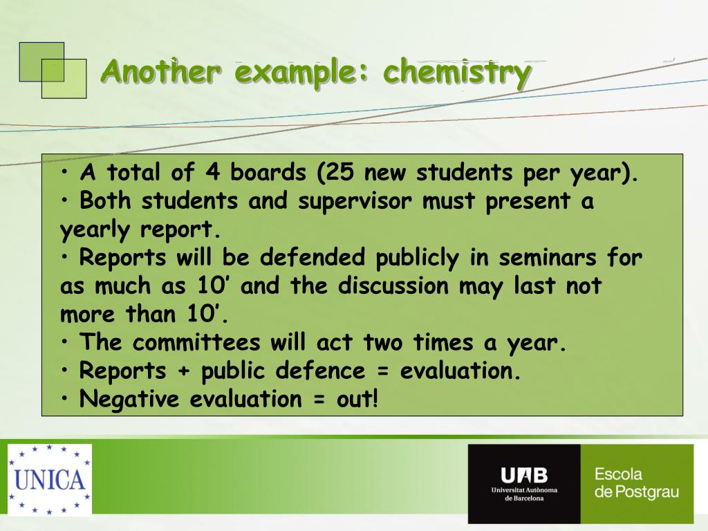 Another example: chemistry