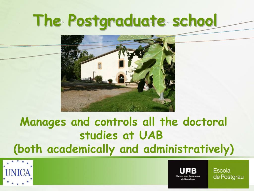 The Postgraduate school