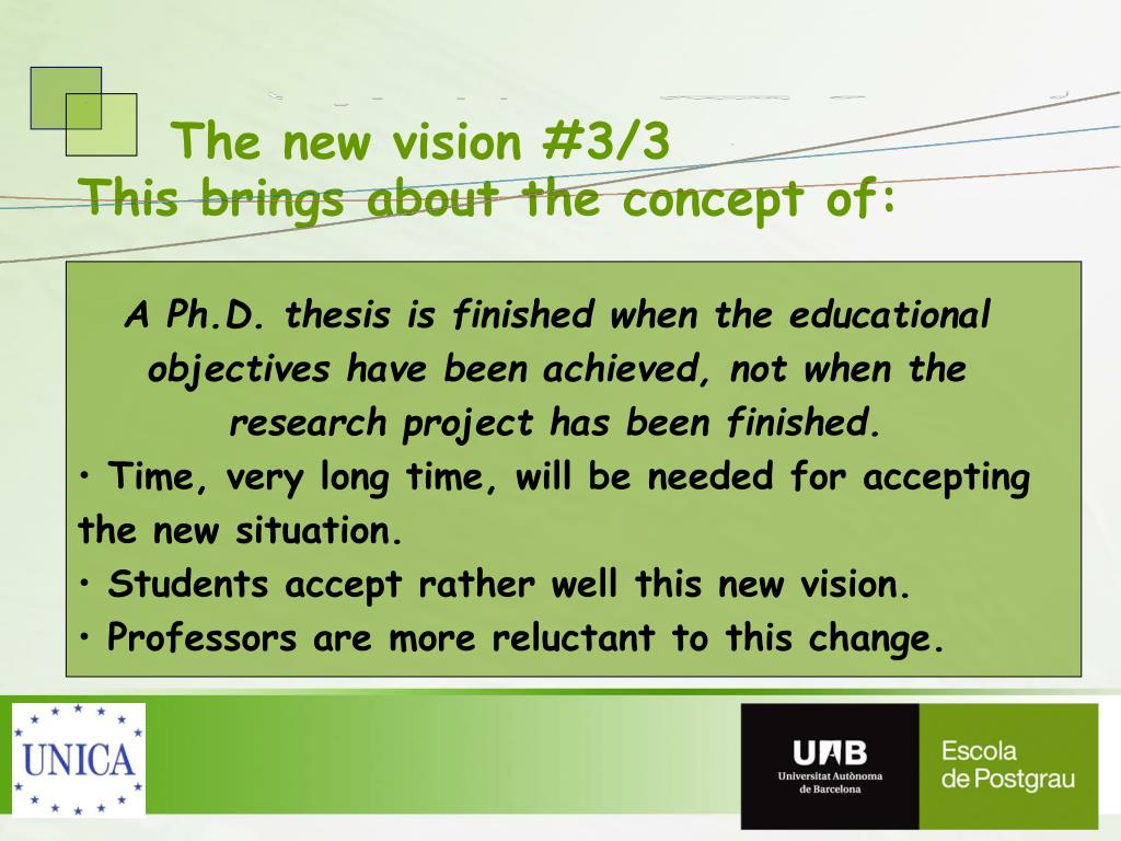 The new vision #3/3