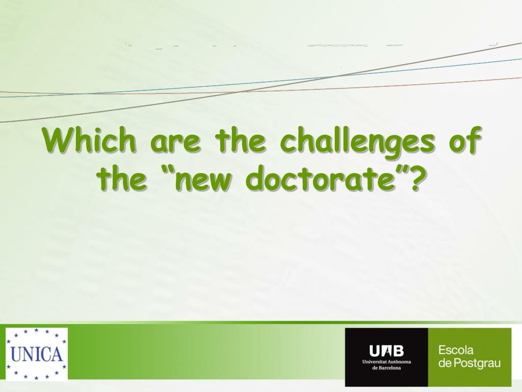 """Which are the challenges of the """"new doctorate""""?"""