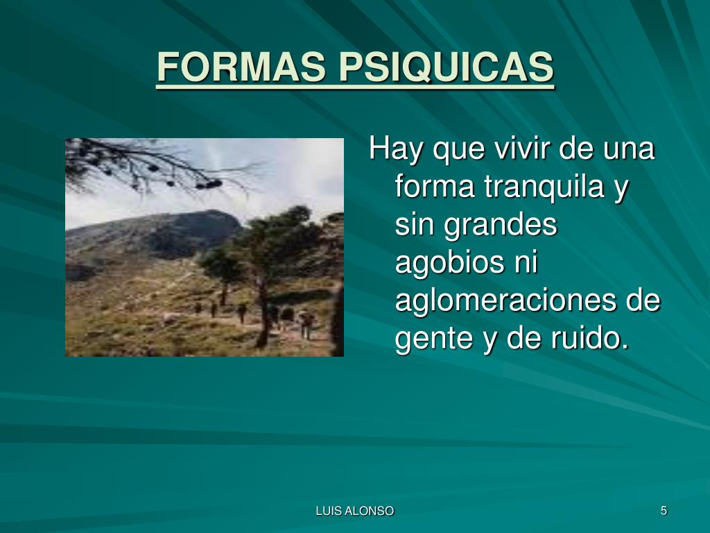 FORMAS PSIQUICAS