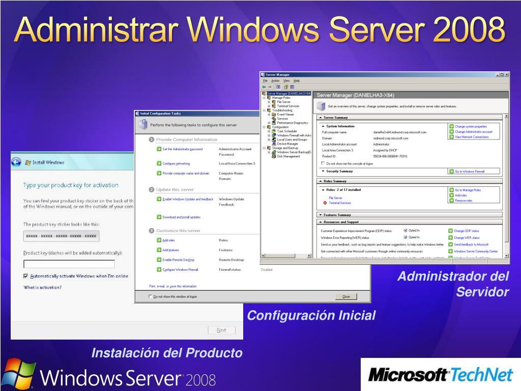 Administrar Windows Server 2008