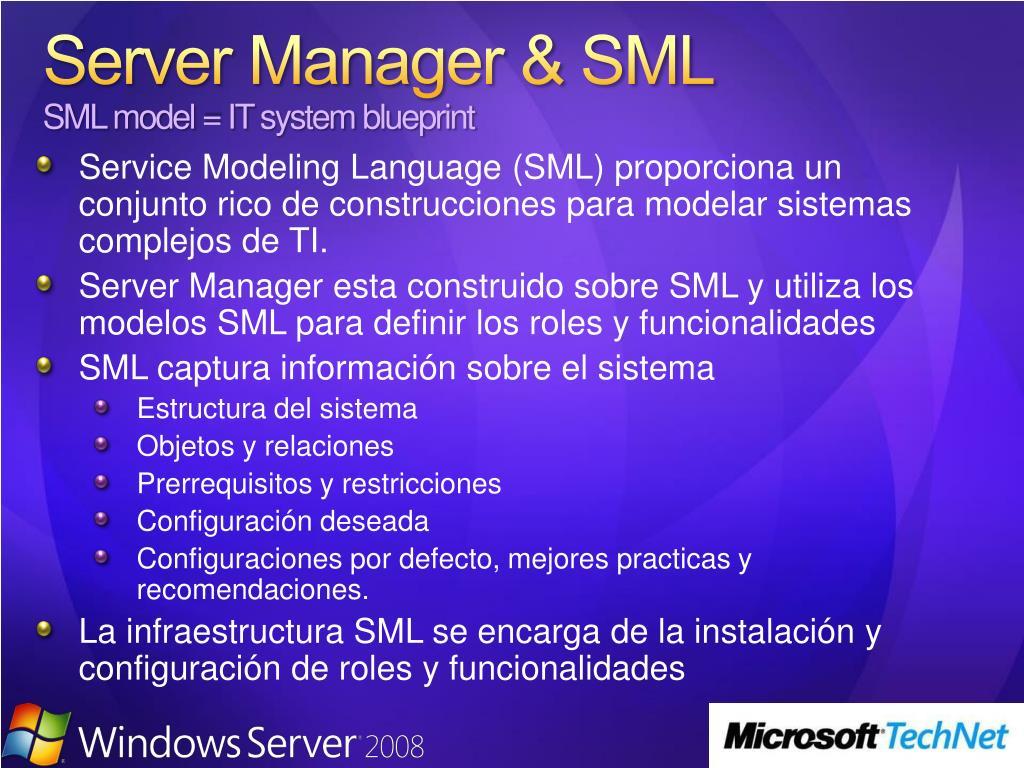 Server Manager & SML