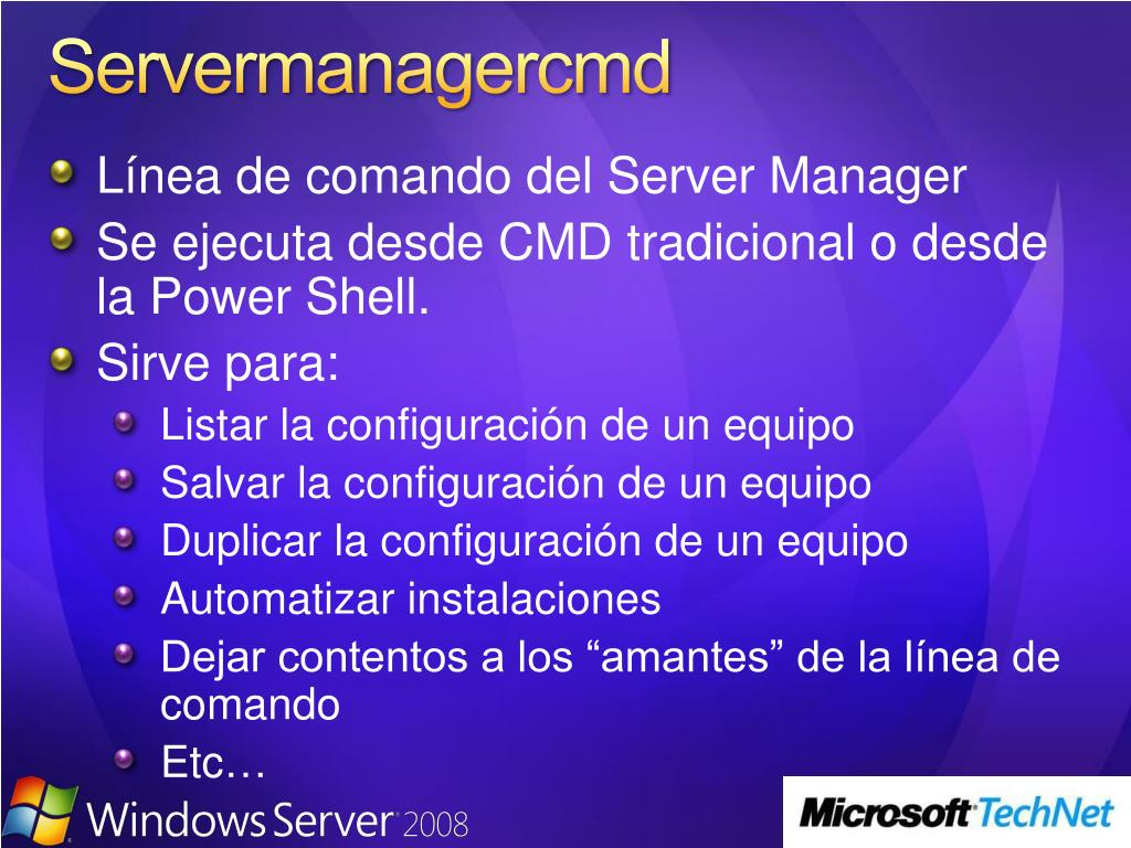 Servermanagercmd