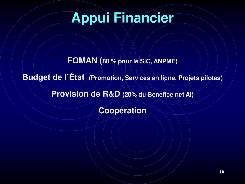 Appui Financier