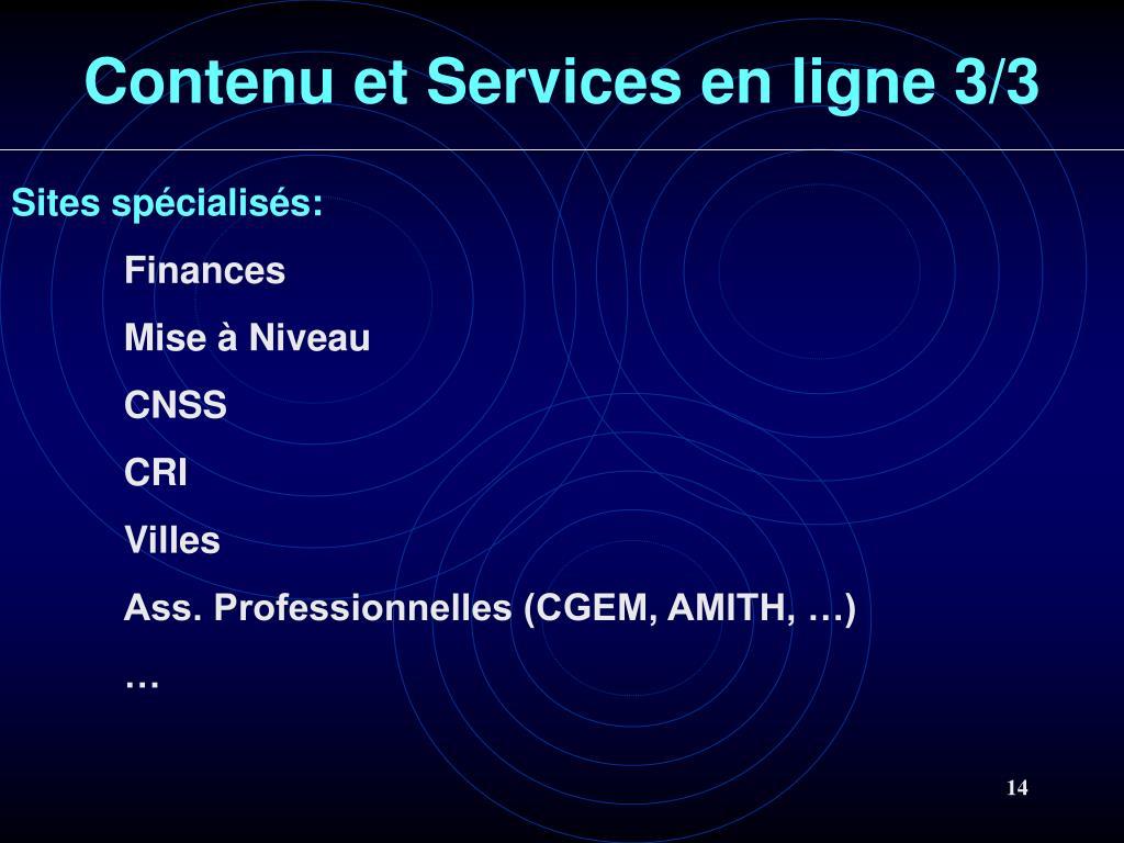 Contenu et Services en ligne 3/3