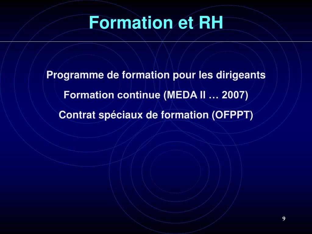 Formation et RH