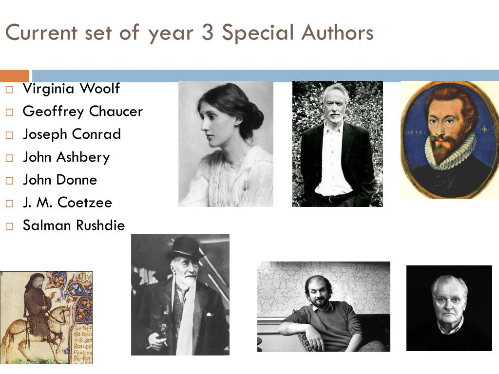 Current set of year 3 Special Authors