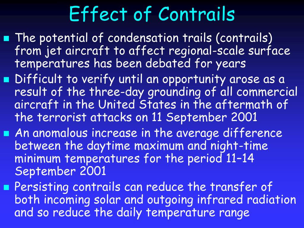 Effect of Contrails