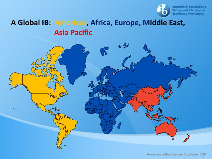 A global ib americas africa europe m iddle east asia pacific