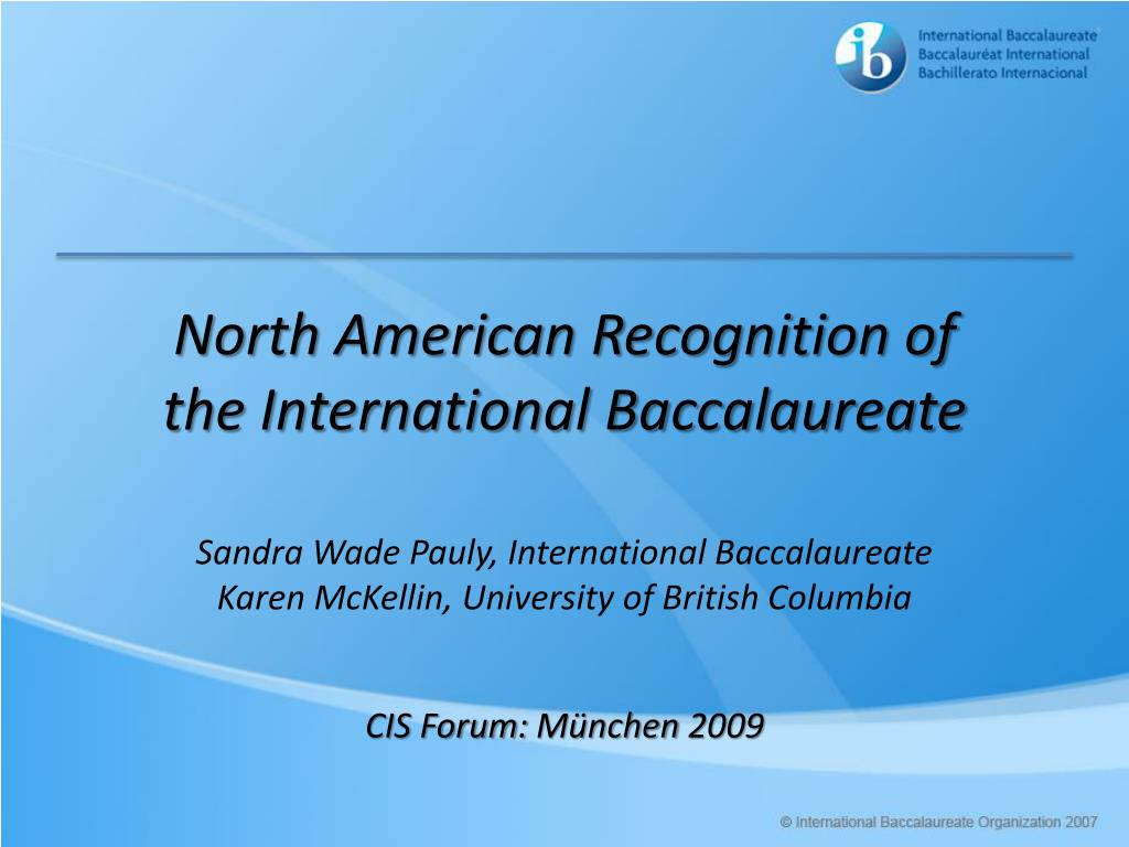 North American Recognition of