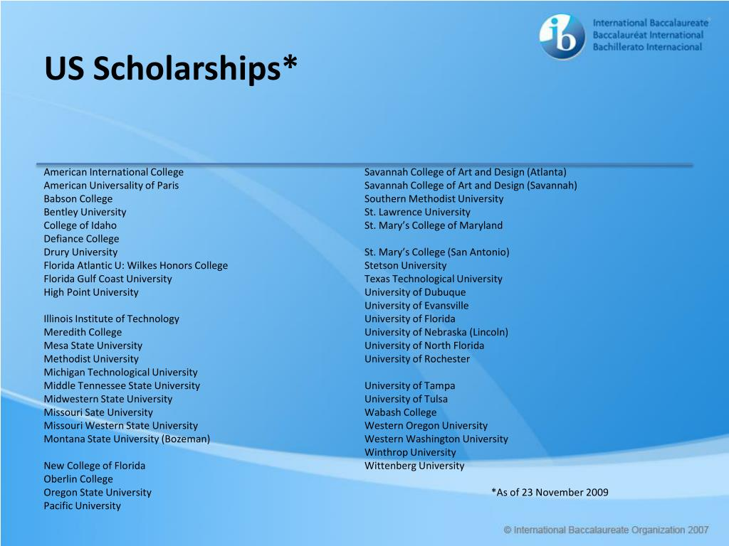 US Scholarships*