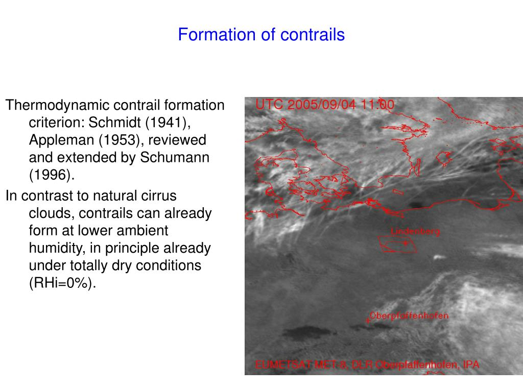 Formation of contrails