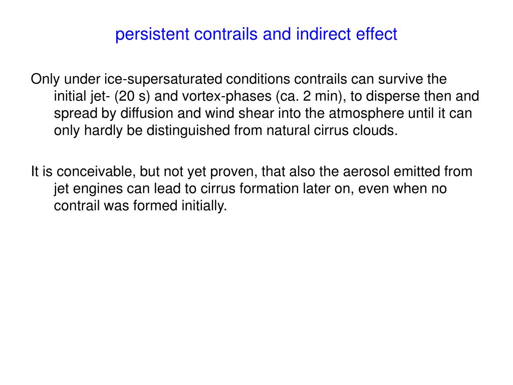 persistent contrails and indirect effect