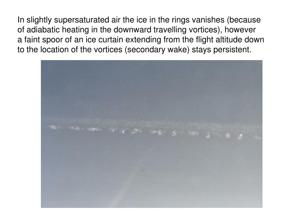 In slightly supersaturated air the ice in the rings vanishes (because
