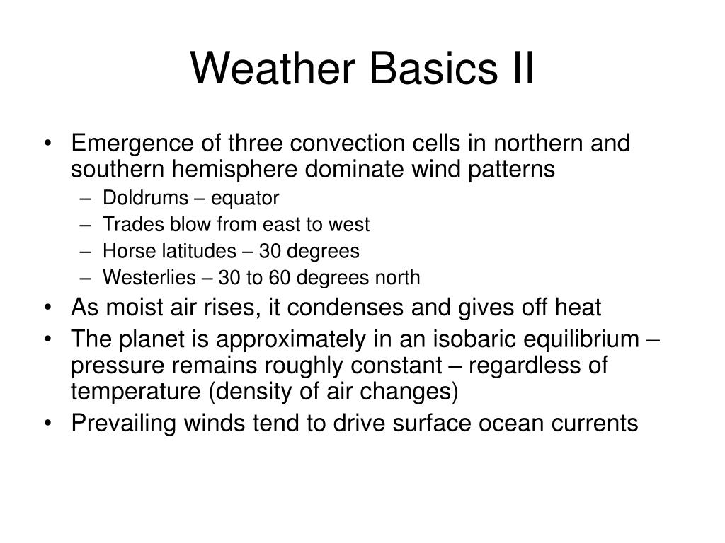 Weather Basics II