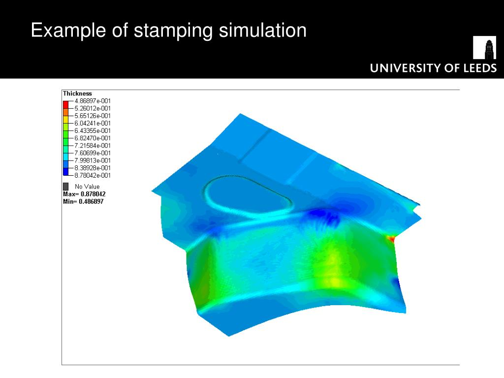 Example of stamping simulation