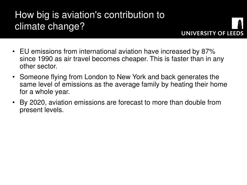 How big is aviation's contribution to climate change?
