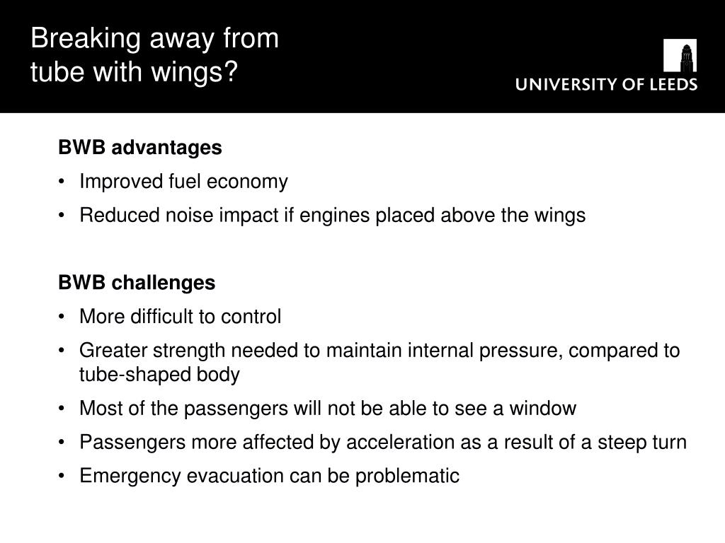 Breaking away from tube with wings?