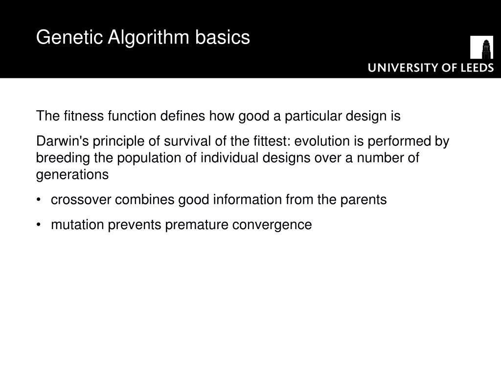 Genetic Algorithm basics