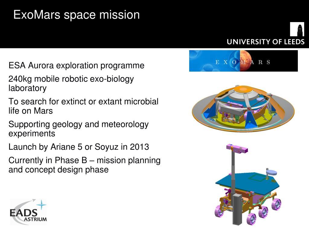 ExoMars space mission