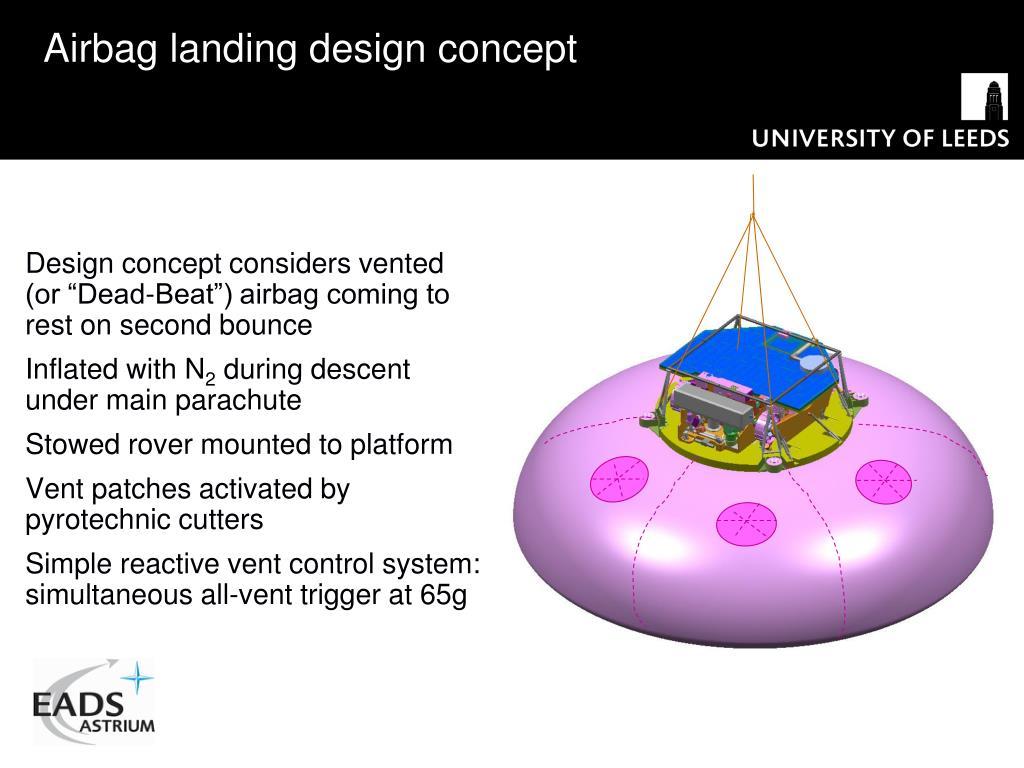 Airbag landing design concept