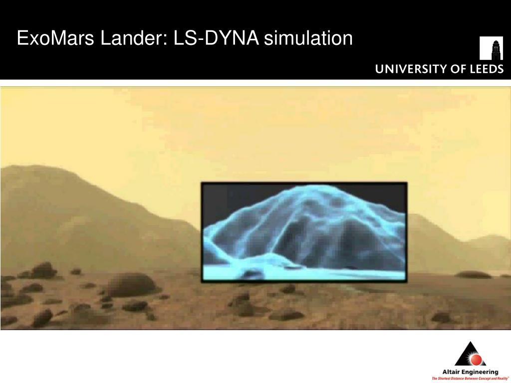 ExoMars Lander: LS-DYNA simulation