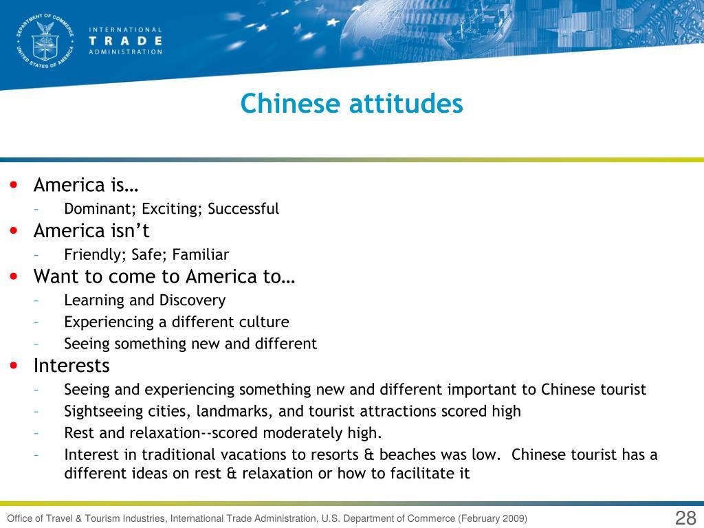 Chinese attitudes