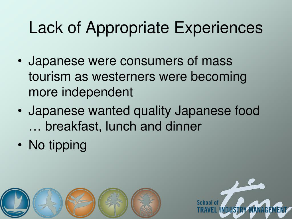 Lack of Appropriate Experiences