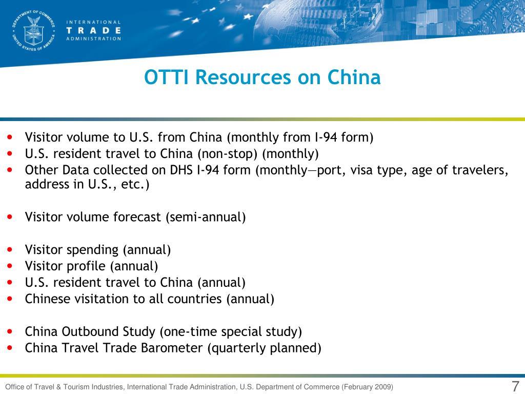 OTTI Resources on China