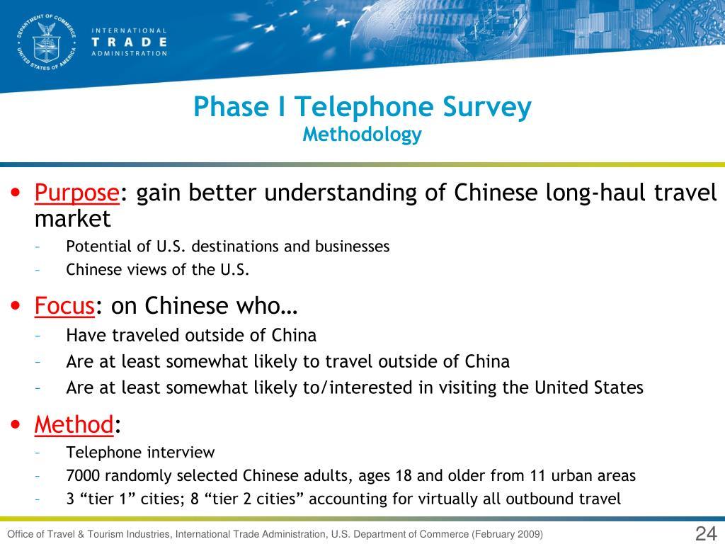Phase I Telephone Survey