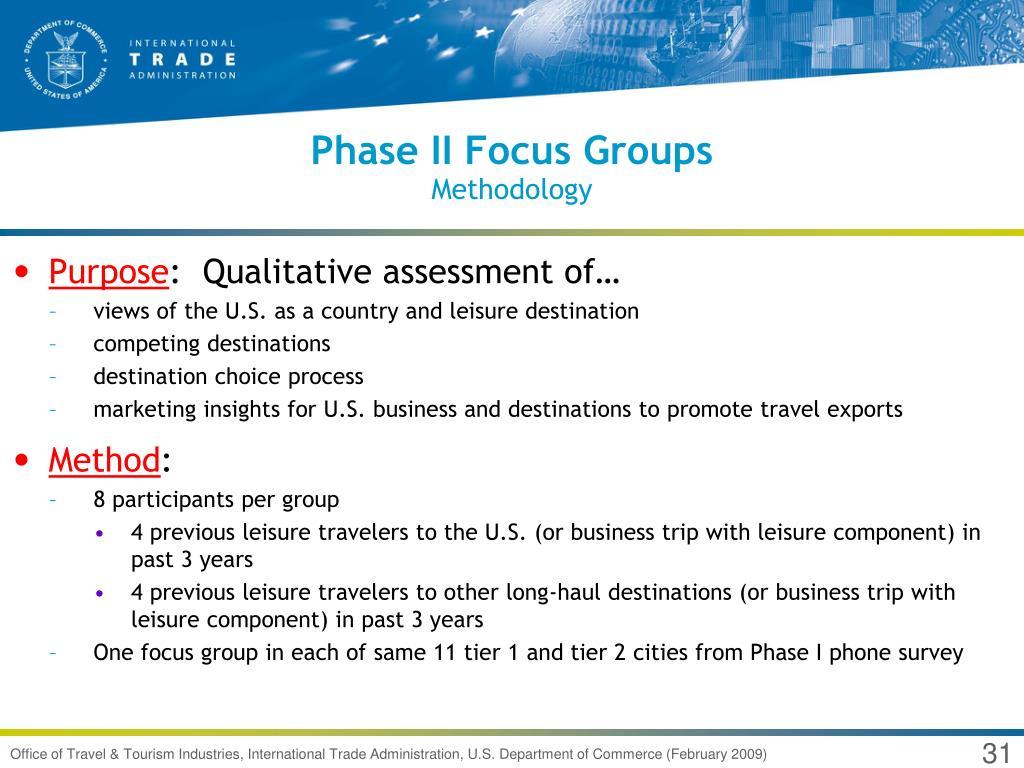 Phase II Focus Groups