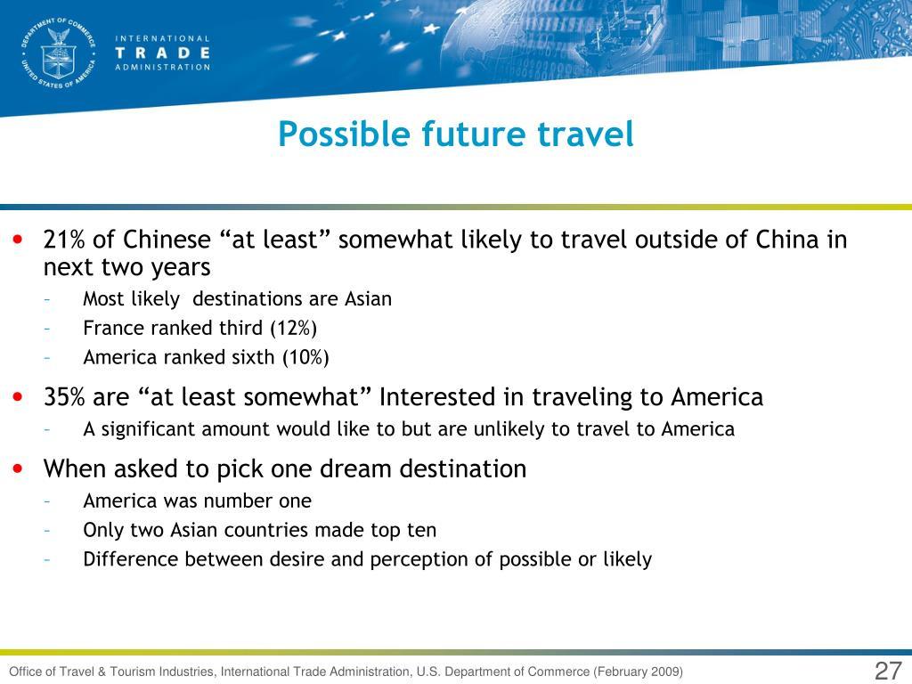 Possible future travel