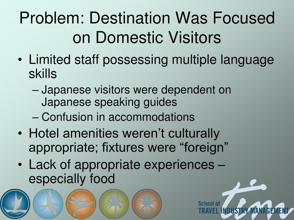 Problem: Destination Was Focused on Domestic Visitors