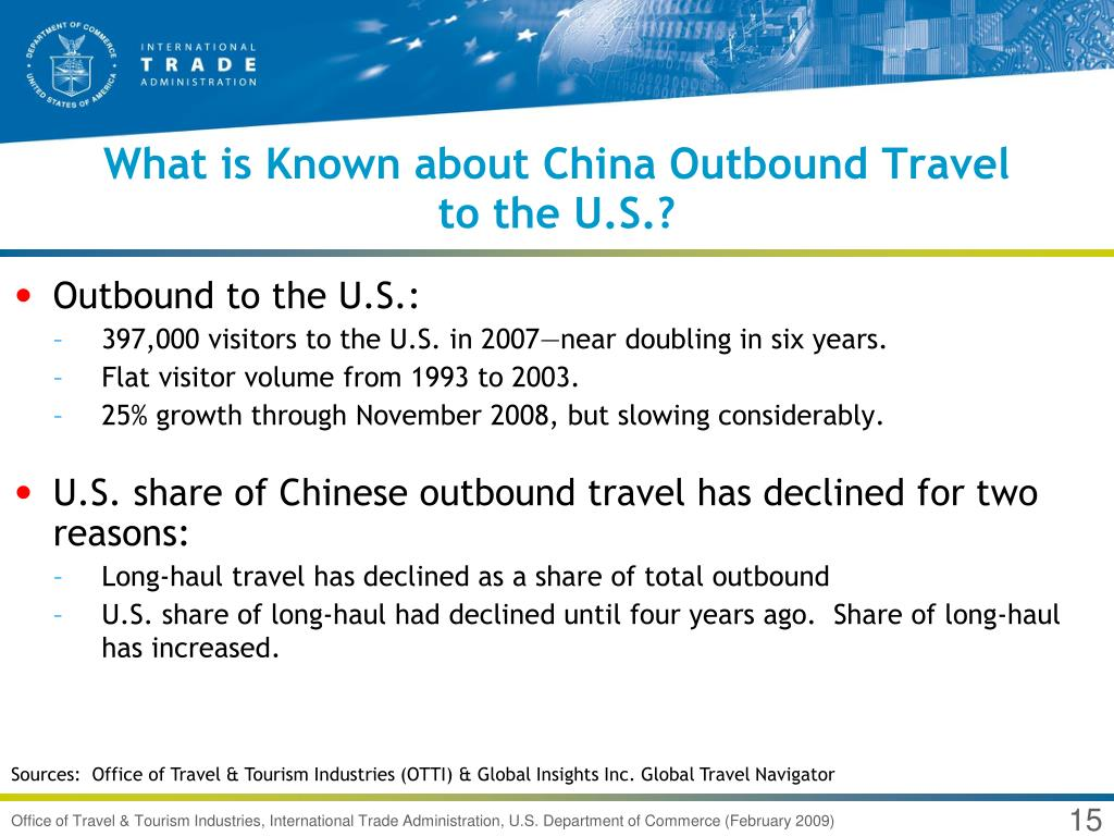 What is Known about China Outbound Travel