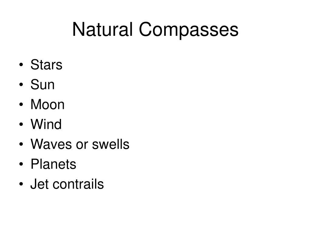 Natural Compasses