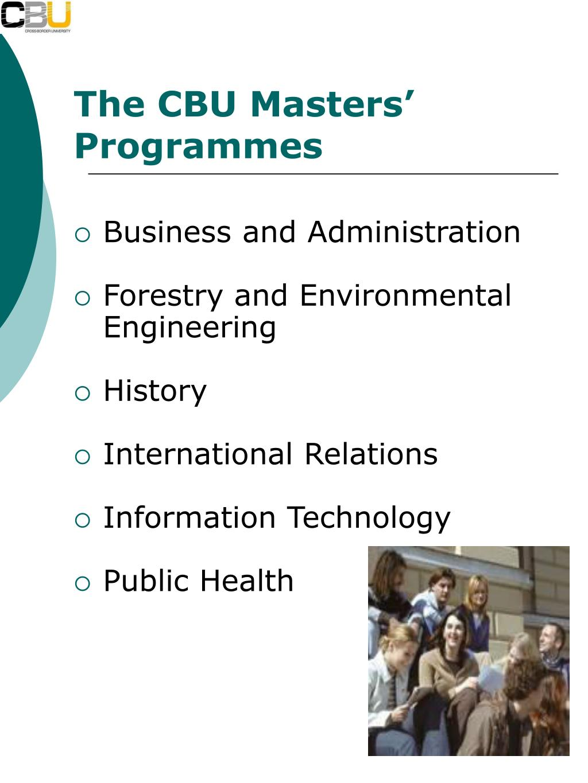The CBU Masters' Programmes