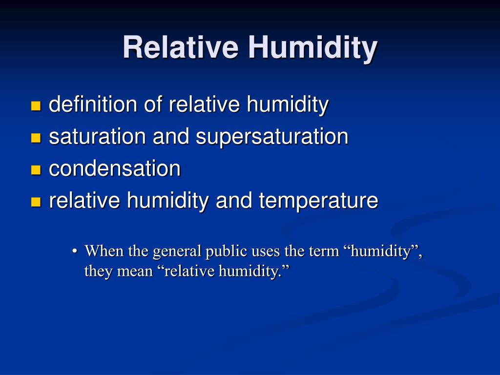 what does 100 relative humidity mean