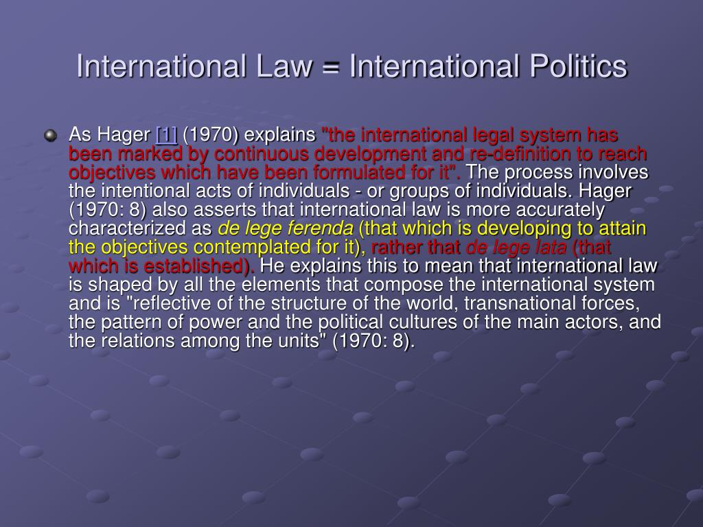International Law = International Politics