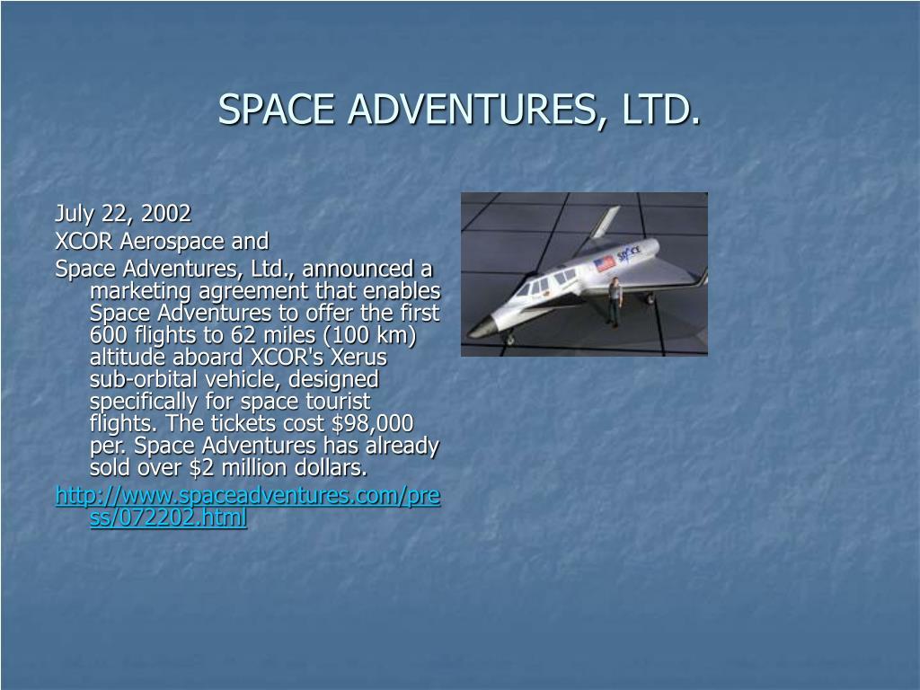 SPACE ADVENTURES, LTD.